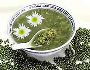 养生茶配方②绿豆菊花柠檬蜂蜜茶