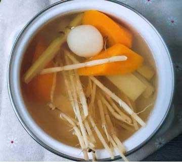 养生茶(保健茶)配方38-茅根甘蔗胡萝卜茶